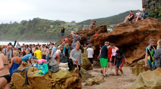 A-Z Challenge: Hot Water Beach in Coromandel, New Zealand