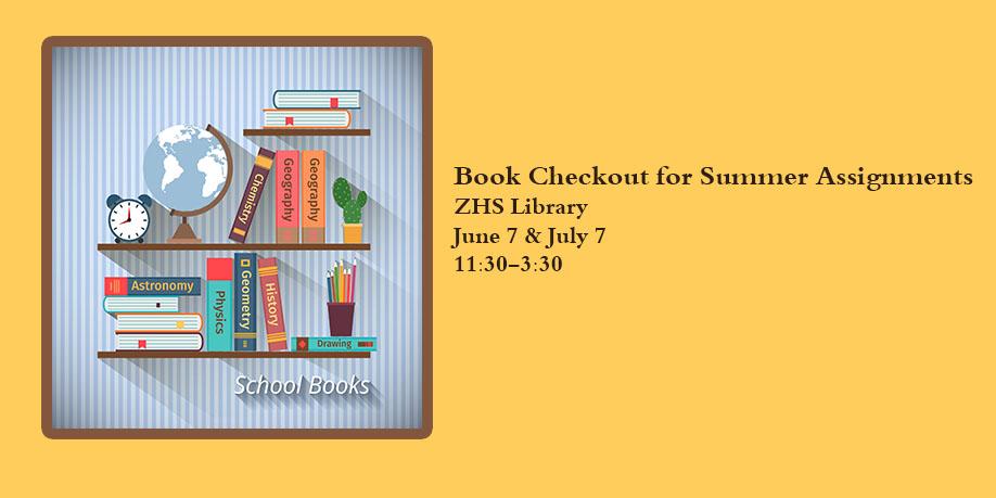 Summer Book Checkout Dates - checkout a book