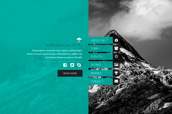 Adobe Muse Templates - Tetra by Muse Deluxe to Zacomic Studios