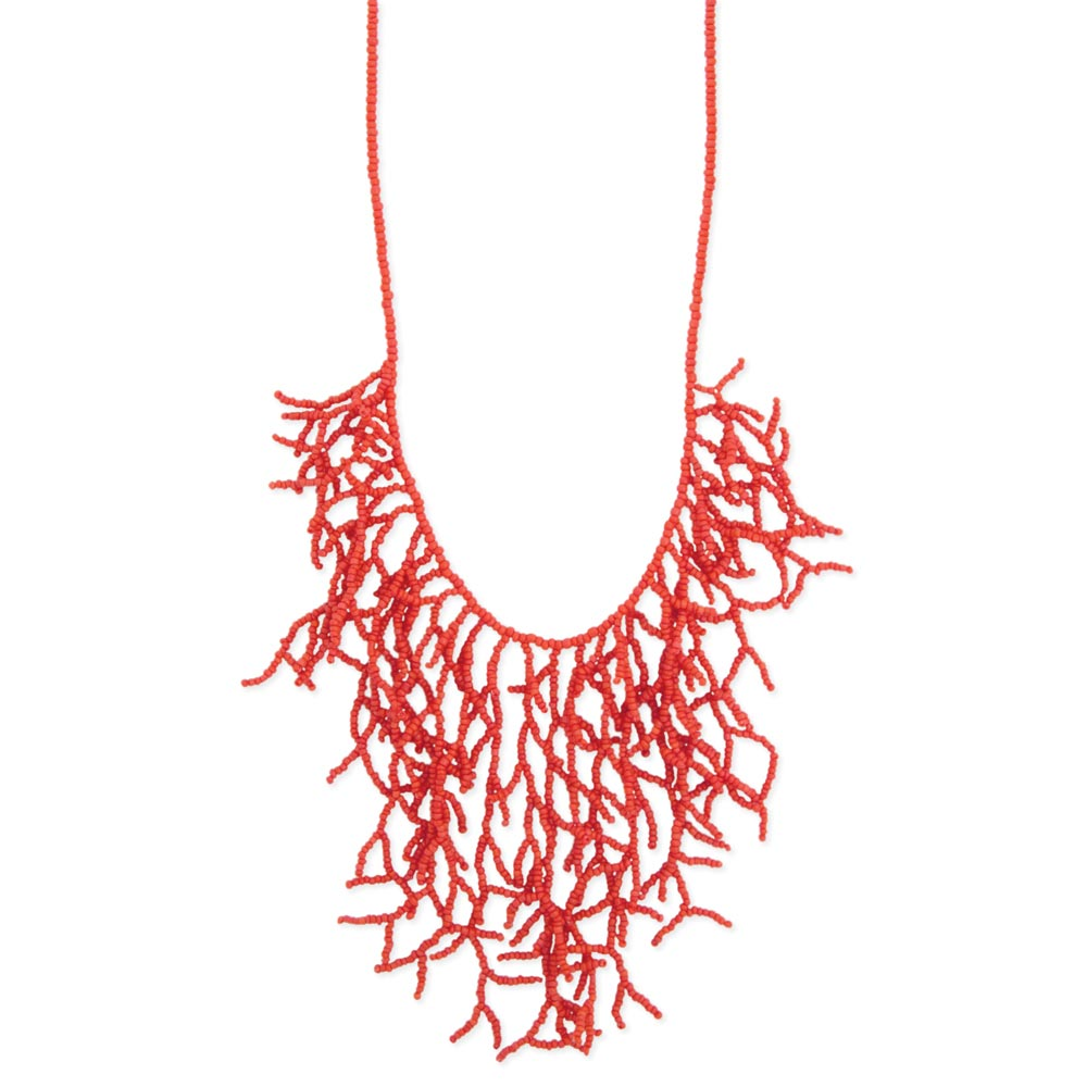 Zad Wholesale Jewelry Wholesale Coral Bead Branch Bib Necklace Zad Fashion