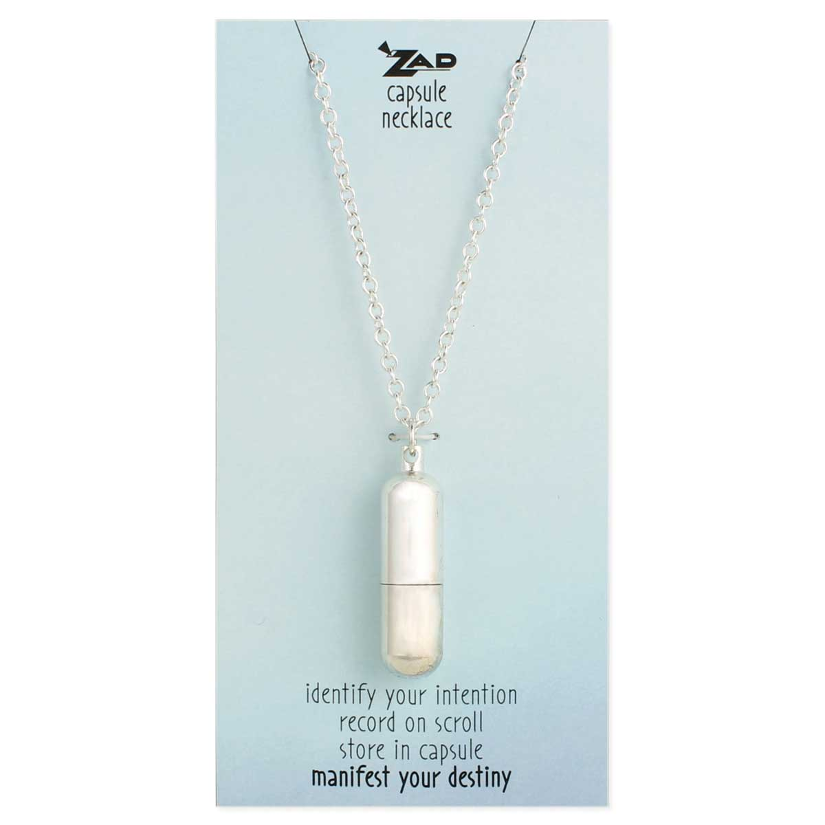 Zad Wholesale Jewelry Silver Wish Capsule Necklace