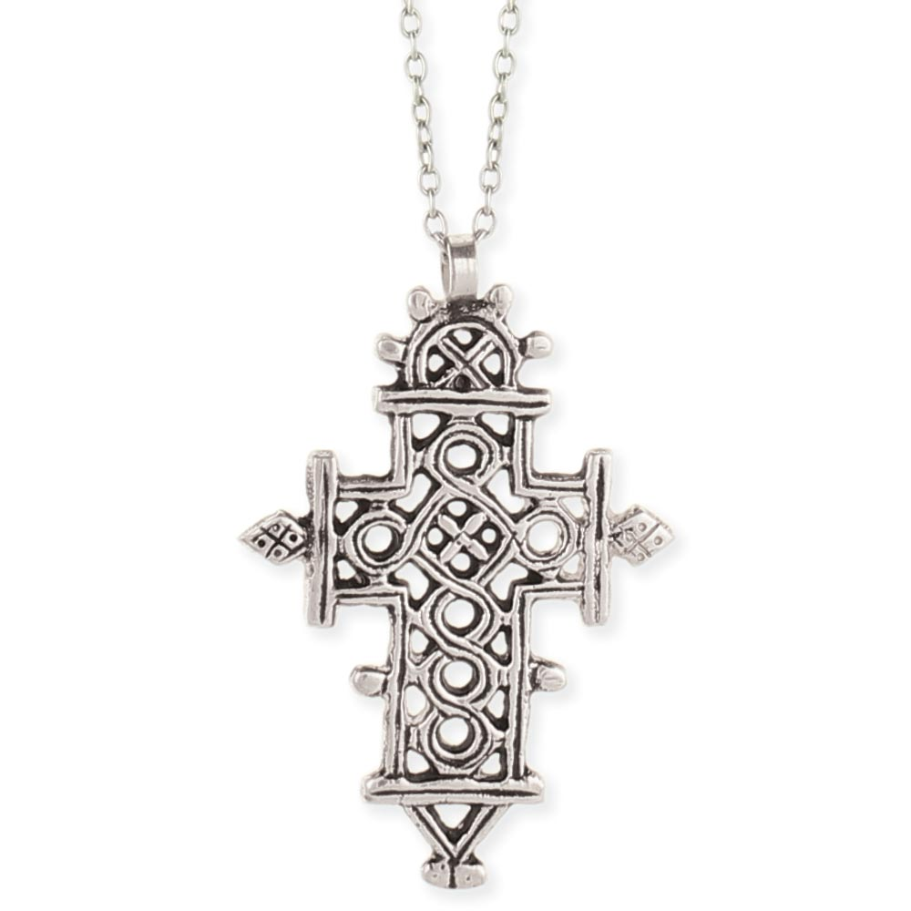 Zad Wholesale Jewelry Wholesale Silver Ethiopian Cross Necklace Zad Fashion