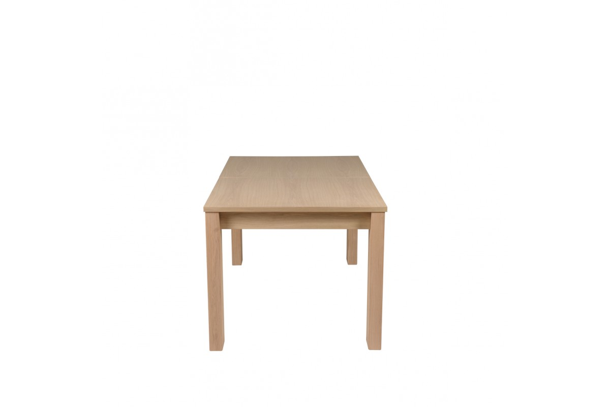 Table Allonge Papillon Table Plaqué Chêne Style Contemporain 150 X 90 Cm Avec Allonge