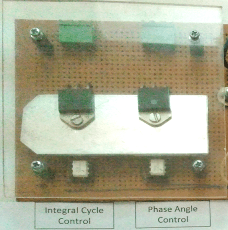 AC power Control Portion: TRIAC circuit + optical isolator + with plastic sheet and heatsink