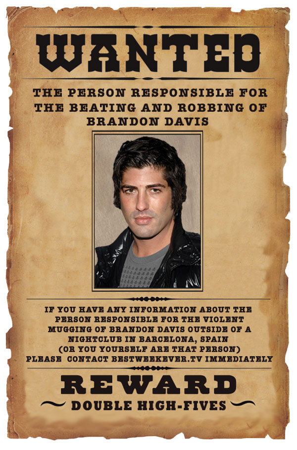 brandon-davis-wanted-poster All Around The World - example of a wanted poster