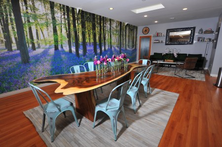 ZBS Forrest Room- Community space used as well for larger events and workshops.  Amenities include: play library, DirectTV, kitchenette with snacks.