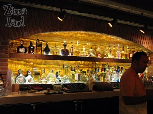 To the left as you enter is the impressive array of Tequilas available