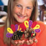 Pine Cone Turkey Place Cards