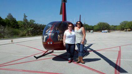 Zanna Shelley LEGOLAND helicopter tour