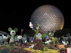 Fab 5 topiaries at night