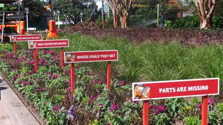 Instructions for the kids activity at Mater's playground