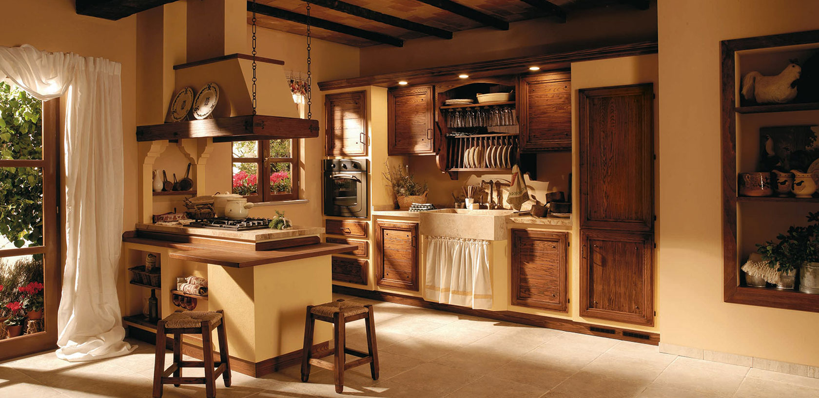 Cucine Country Legno Massello Cucine Country Chic Zappalorto