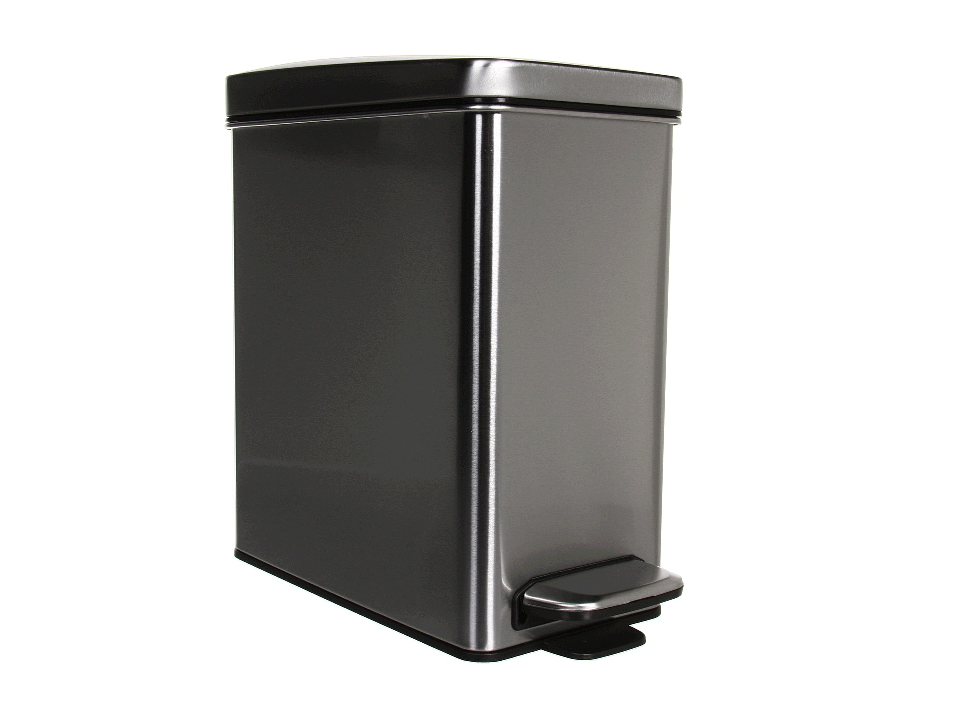 Corner Stainless Steel Trash Can Simplehuman Simplehuman Profile Step Trash Can 10 Liters 2