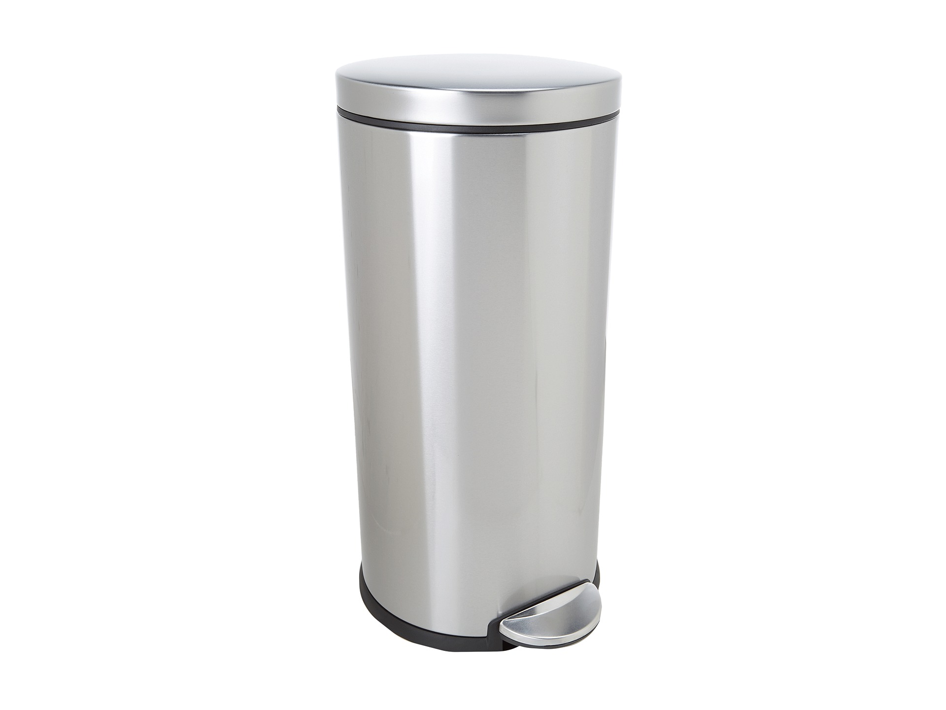 Corner Stainless Steel Trash Can Simplehuman 30l Round Step Trash Can Fingerprint Proof