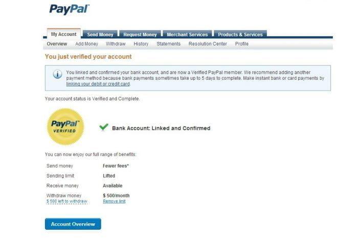 Перевод денег с PayPal на