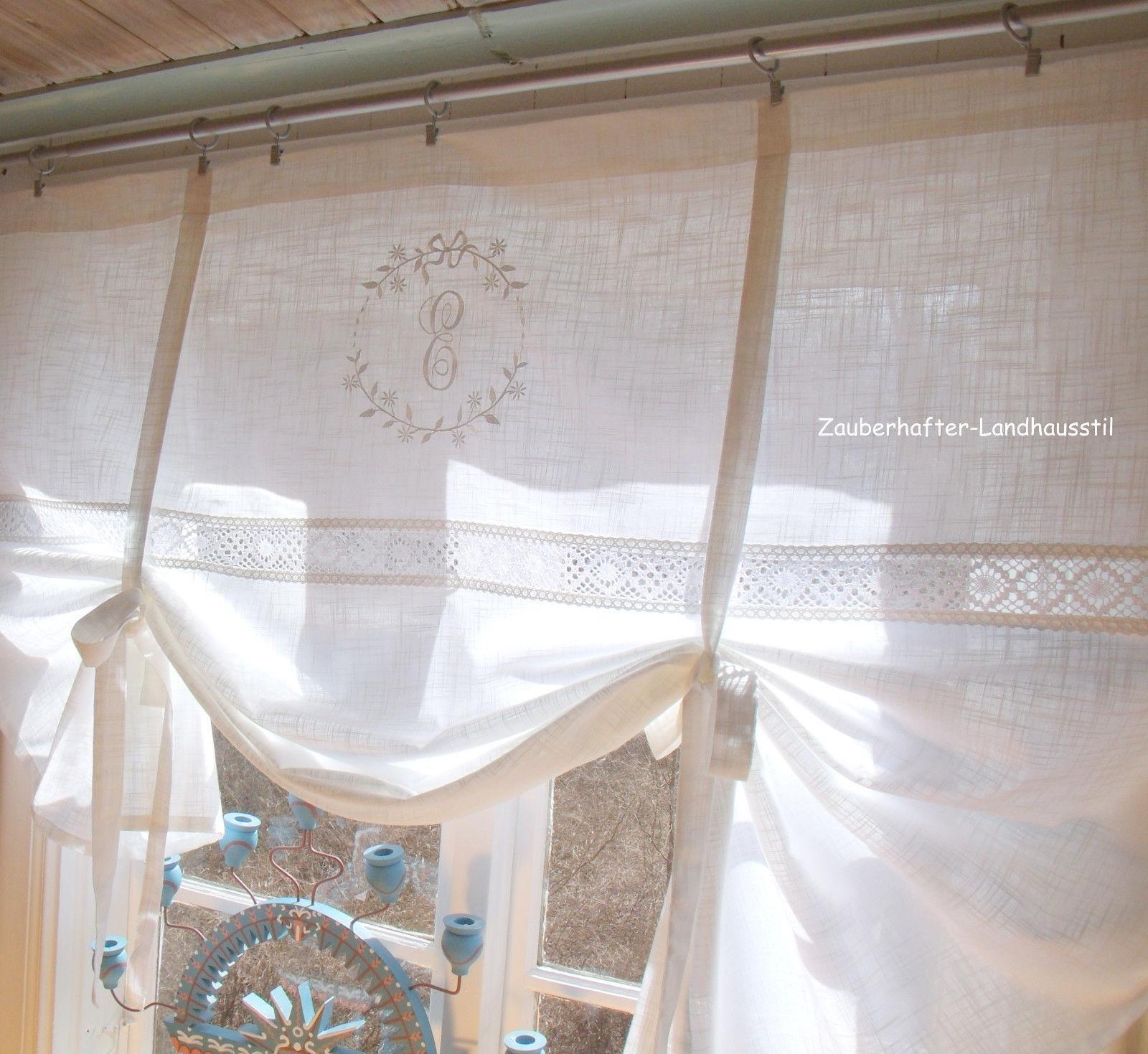 Gardinen franz sischer landhausstil beatrice vorhang for Scheibengardine schlafzimmer