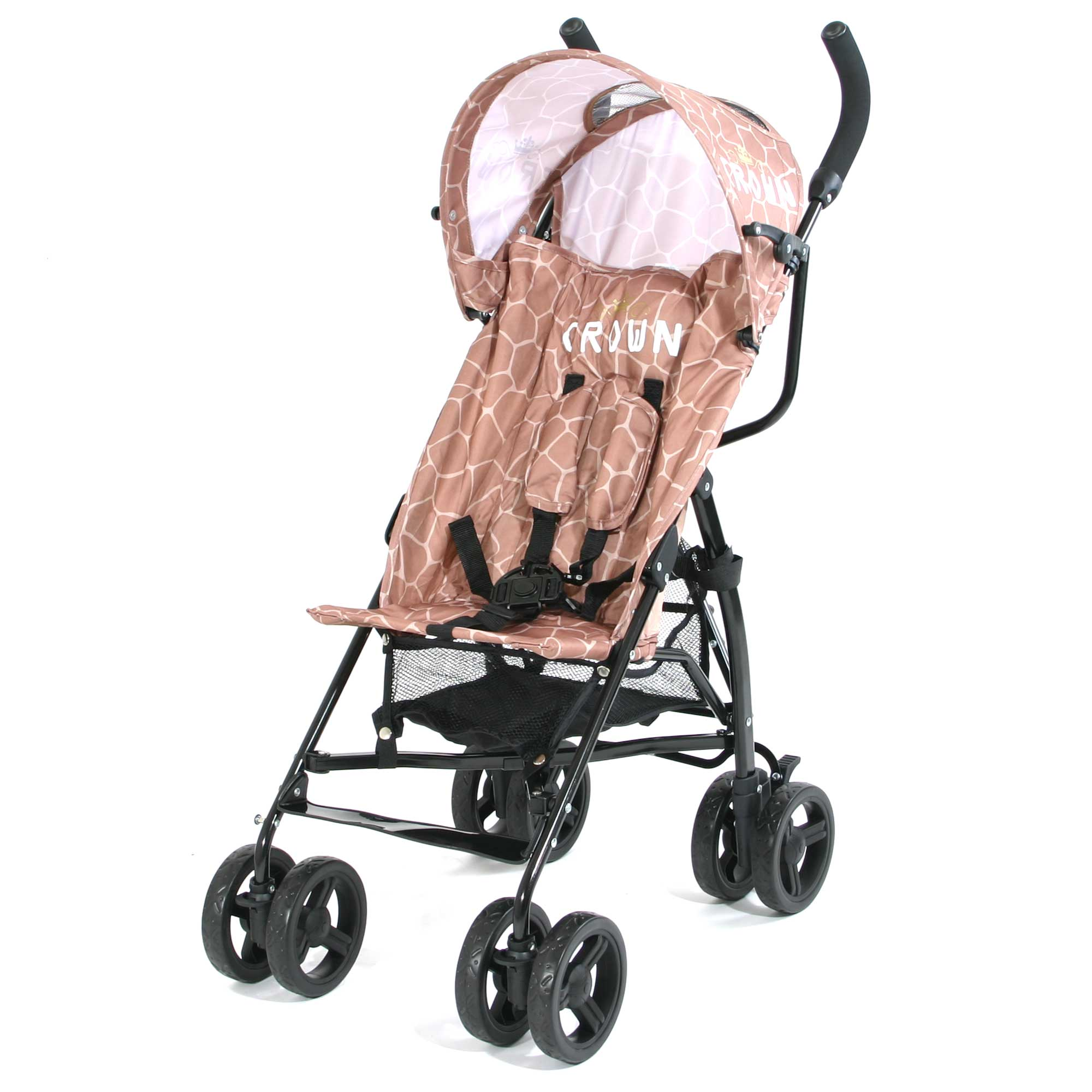 Crown Buggy Räder Crown St120 Buggy Kinderwagen Giraffe Braun Zawione