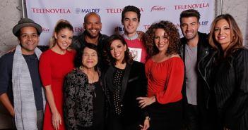 Gabriela Zabalua + Telenovela cast  Cast