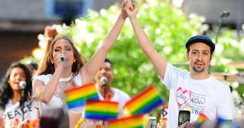 Lin-Manuel Miranda and Jennifer Lopez