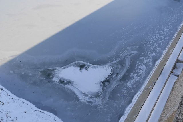 Lacul Bicaz iarna