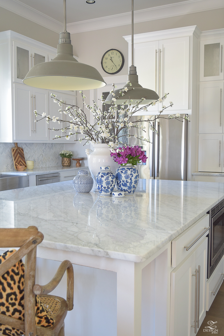 White Marble Island The Pros Cons Of Marble Countertops What I Use To Clean Mine