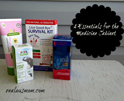 4 natural health care products every mom should keep in her medicine cabinet. @zealousmom.com #kidhealth