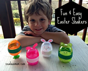 Fun & Easy Easter Shakers. Great craft for kids of all ages. @zealousmom.com #eastercraft