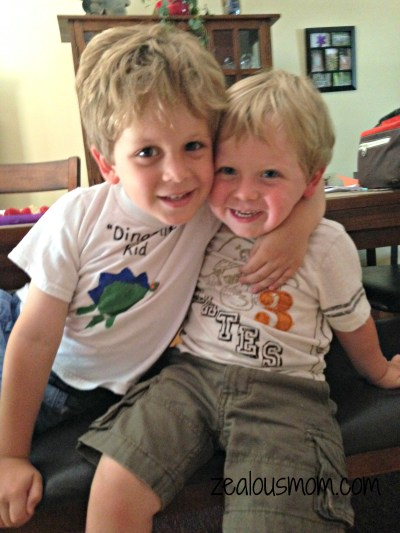 Wordless Wednesday: Brothers -zealousmom.com #wordlesswednesday #parenting