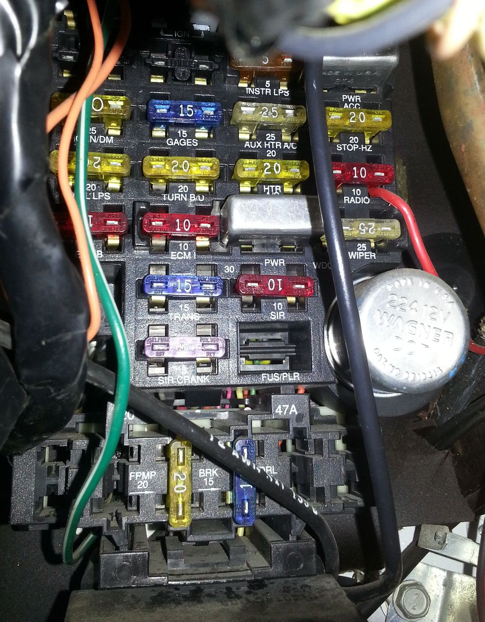 chevy g20 fuse box general wiring diagrams 1990 Chevy G20 Van Specs
