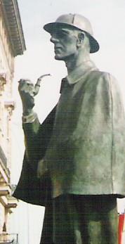 אנדרטת שרלוק הולמס בלונדון (ויקישיתוף)