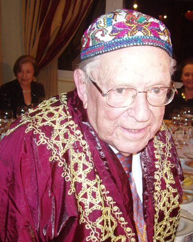 אילין ביום הולדתו ה-95 (צילום: זאב גלילי)