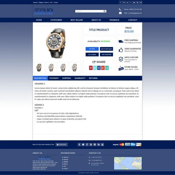 Listing template ebay fashionmen \u2013 Zeinebay - ebay store templates