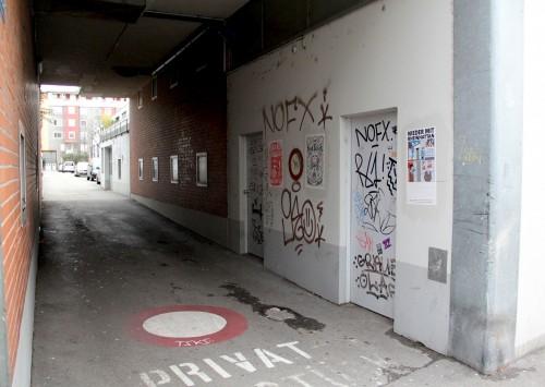 Baerwarts Gässli Einfahrt Mattenstrasse