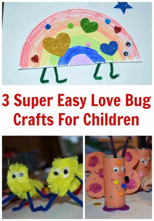 Love Bug Crafts For Children For Valentines Day