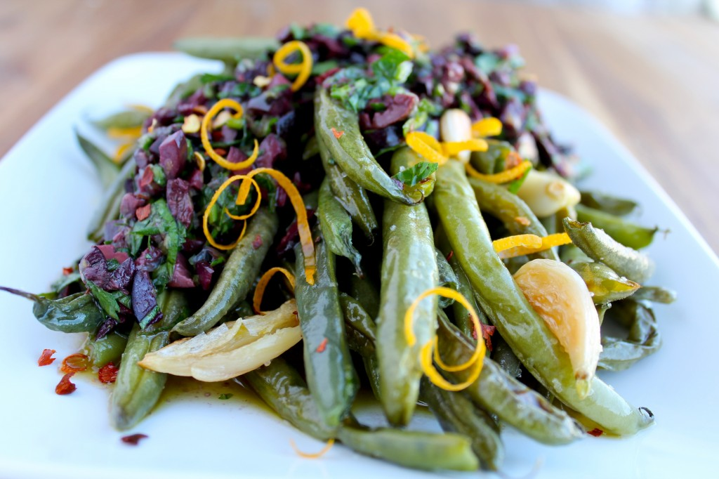 paleo green beans with olive vinaigrette