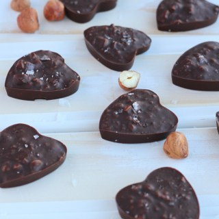 Hazelnut Brown Butter Chocolate Hearts