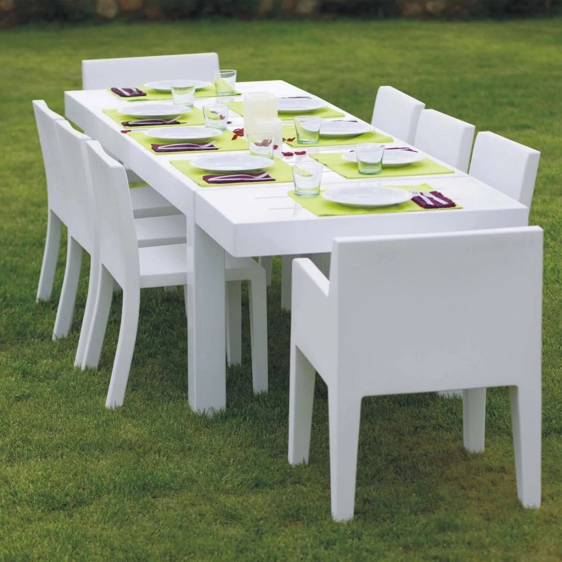 Table Carrée 10 Personnes Table De Jardin Design 10 Personnes Jut Par Vondom