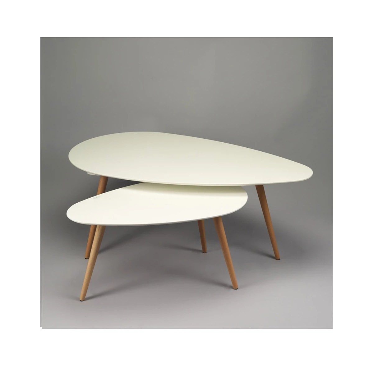 Table Basse Gigogne Blanc Table Basse Gigogne