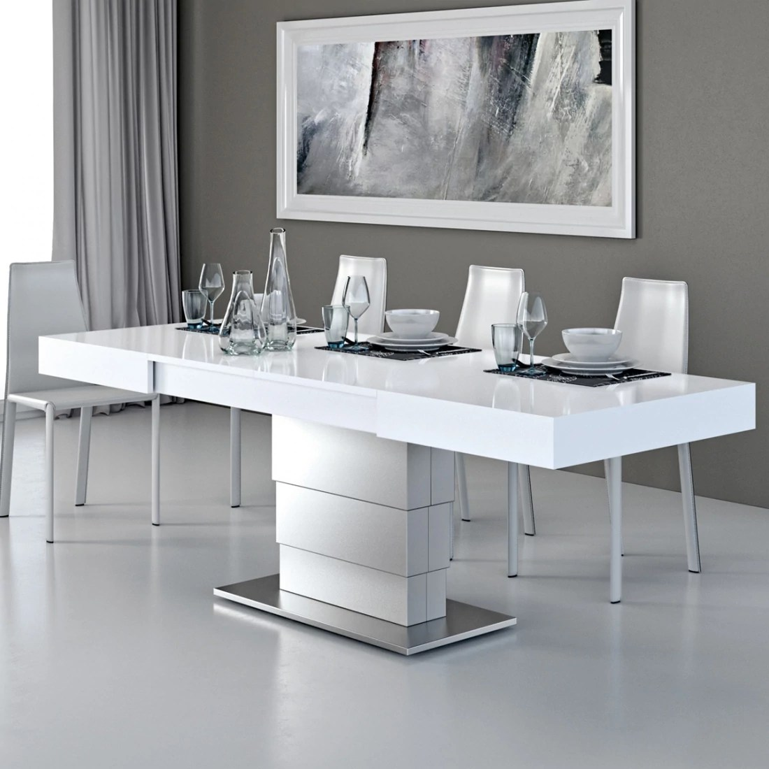 Table à Rallonge Design Table Basse Modulable Ares Fold Inox Zendart Design