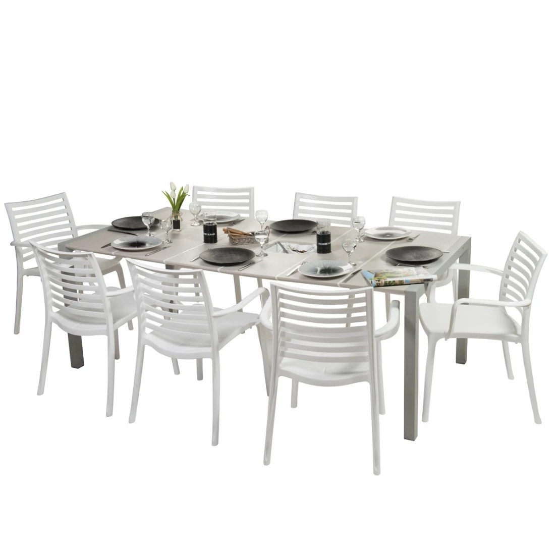 Salon De Jardin Sunday Salon De Jardin De Repas Sunday Lin Design Grosfillex