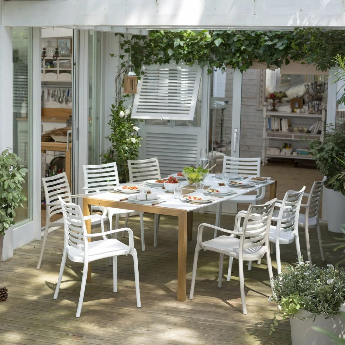 Salon De Jardin Made In France Salon De Jardin De Repas Sunday Copenhague Design Grosfillex