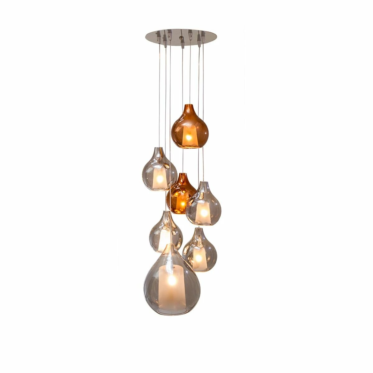 Suspension Design En Verre Lampe Suspension Circé 7 Concept Verre
