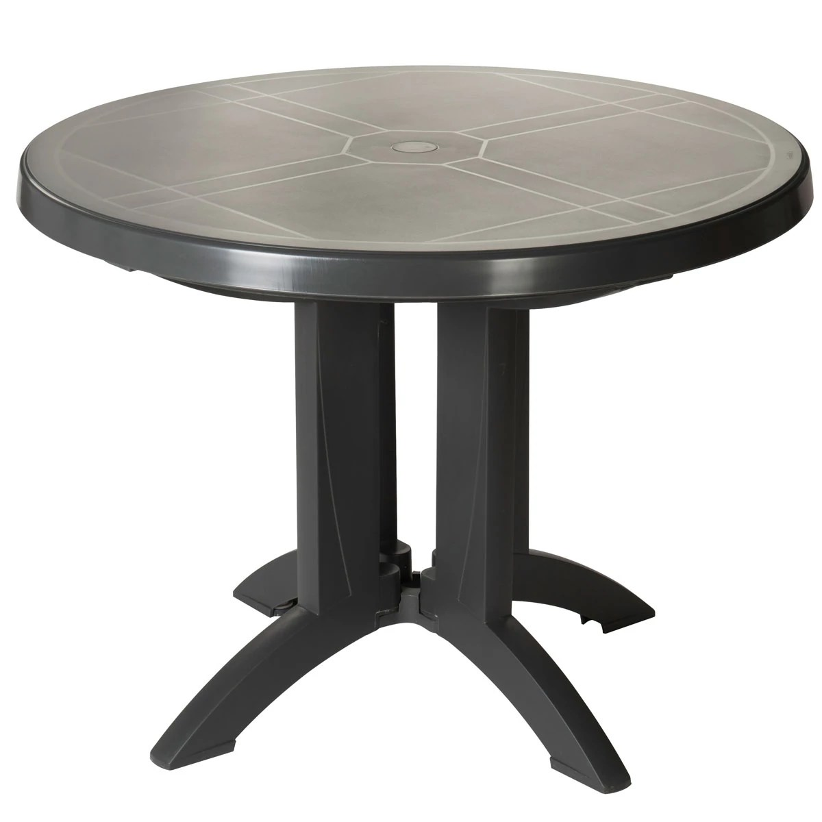 Table De Jardin Ronde Table Ronde De Jardin Vega Grosfillex