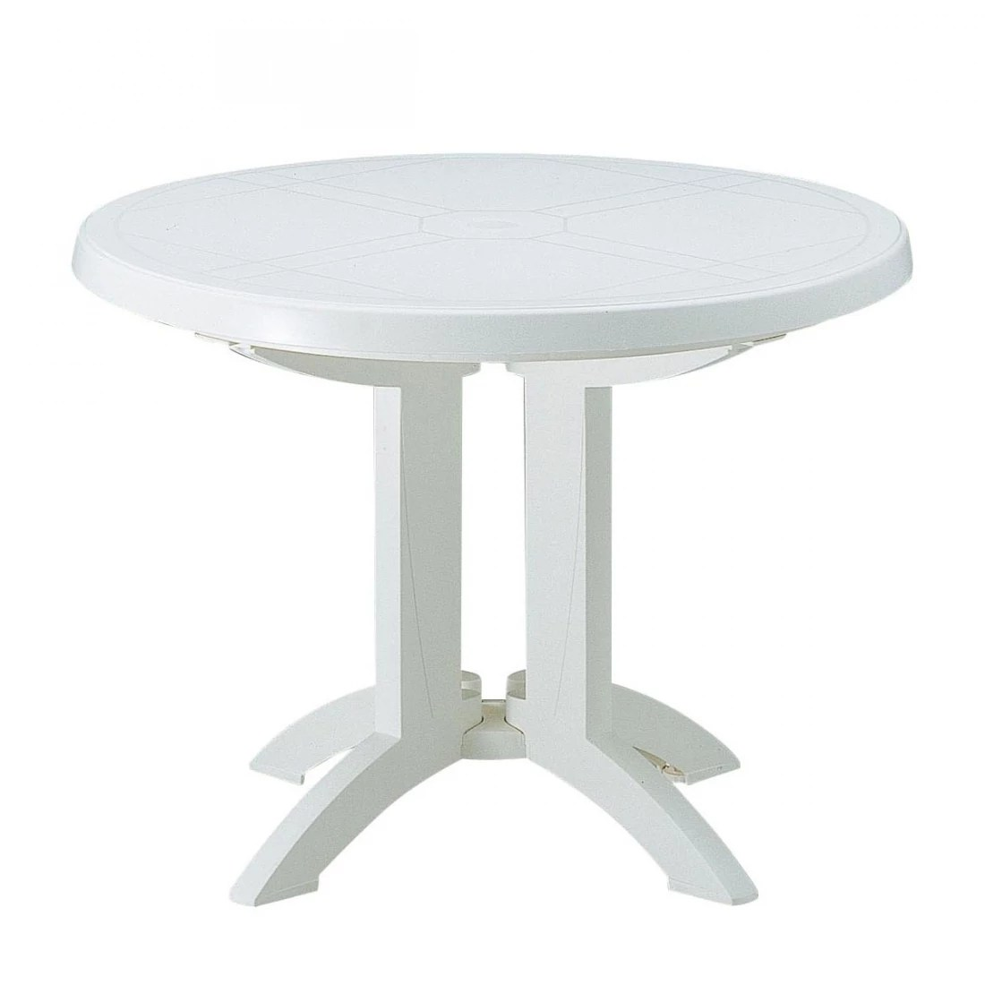 Table Pvc Exterieur Table Ronde De Jardin Vega Grosfillex