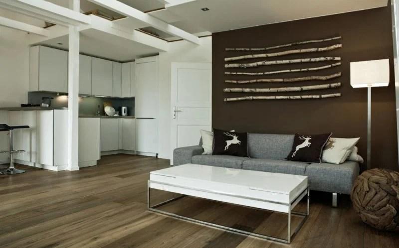 Birkenstamm Wohnzimmer