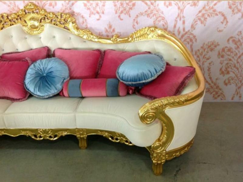 Sofa Barockstil. Excellent Sofa Pink Mit Holzrahmen Silber Eine ...