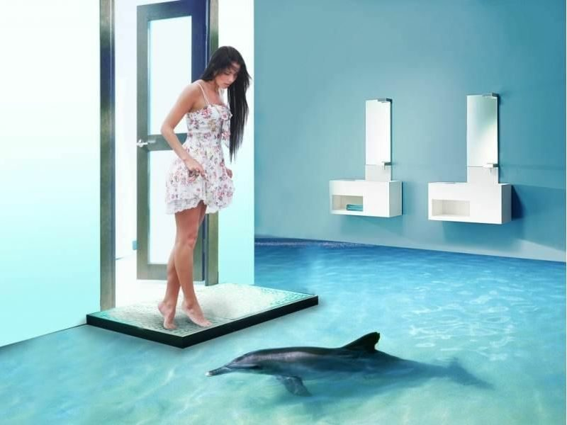 Badezimmer Fliesenbilder 3d ~ Heimdesign, Innenarchitektur und - 3d badezimmerboden