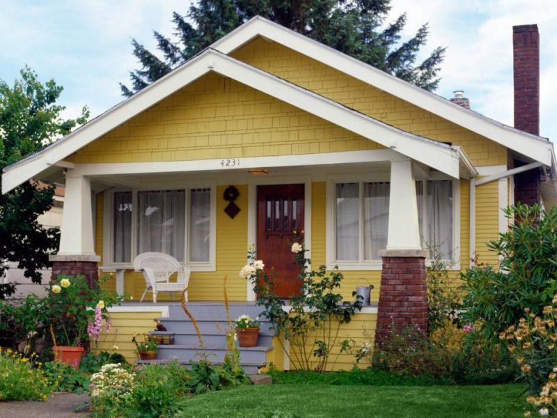 Fassadenfarbe-gelb-orange-86 fassadengestaltung design und farbe - fassadenfarbe beispiele