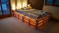 Europaletten Bett ganz einfach selber bauen  ausfhrliche ...