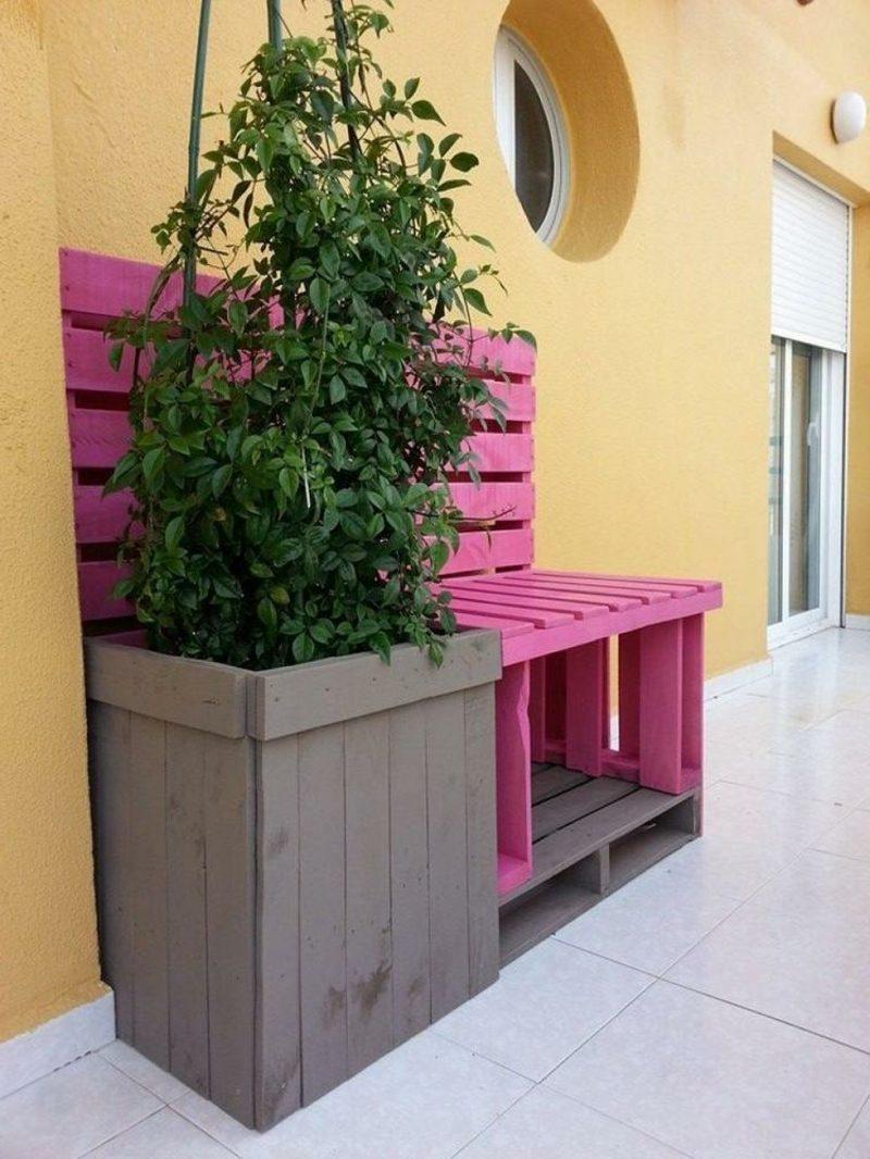 Balkon Ideen Europalette Europaletten Bett Diy Einzigartig Lounge